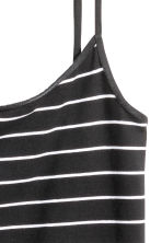 Long jersey strappy top - Black/Striped - Ladies | H&M CN 3